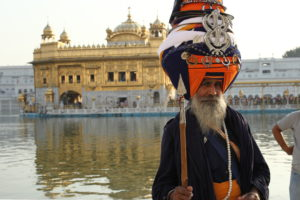 NIhang Singh at Golden Temple Amritsar